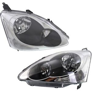 Headlight Set For 2004 2005 Honda Civic Hatchback Left And Right 2pc