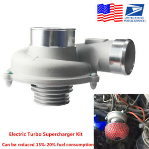Universal Electric Turbo Supercharger Kit Air Filter Intake Engine Protection Us