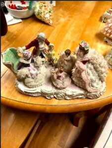 Irish Dresden Grandmother S Birthday Porcelain Lace Figure