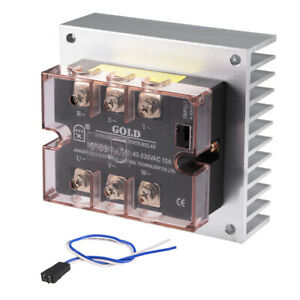 Dc 4 32v To Ac 40 530v 10a Three Phase Solid State Relay Module Dc To Ac