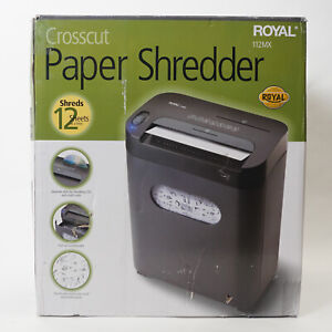 Royal 112mx 12 sheet Crosscut Paper Cd Credit Card Shredder With Pull out Waste