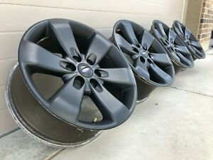 20 Ford F150 Expedition Ranch Limited Black Oem Factory Stock Wheels Rims 6x135