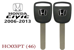 2 Honda Civic 2006 2013 New Transponder Chip Key Replacement Usa Seller A