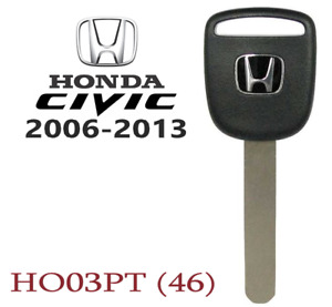 Honda Civic 2006 2013 New Transponder Chip Key Replacement Usa Seller A