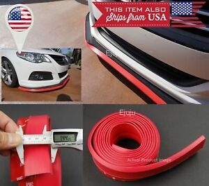 1 3 Wide Red Ez Fit Front Bumper Lip Spoiler Trim Chin Splitter For Bmw Audi