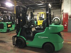 2014 Mitsubishi 6000 Lb Forklift With Side Shift And Triple Mast