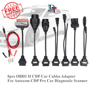 8pcs Obd Obdii Cables For Cdp Tcs Hd Pro Cars Diagnostic Interface Scanner Set