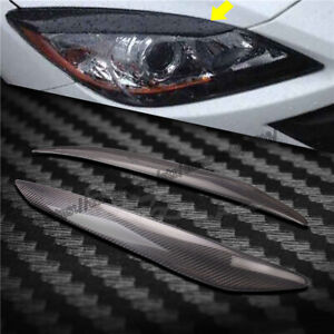 For Mazda 3 M3 2010 2013 Carbon Fiber Eyelids Eyebrow Lid Headlight Molding Trim