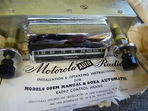 Nos 1949 50 Oldsmobile Motorola Car Radio Automatic Control Head With Face Plate