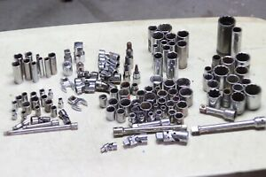 Craftsman 1 4 3 8 1 2 Inch Drive Socket Lot 115 Pieces All Different