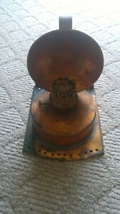Antique Sherwoods B Ham Copper Ship S Oil Lamp Reflector Nautical Great Lakes