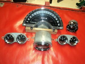 Corvette 1961 Gauge Set Will Fit 1958 1962 Too