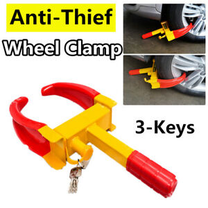 Us Wheel Lock Clamp Anti Theft Boot Tire Claw Trailer Auto Car Suv Truck Parking