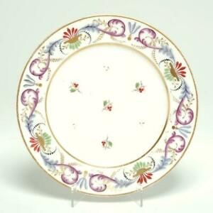 Antique Nast A Paris French Porcelain Plate Berries Folate Gilt Signed