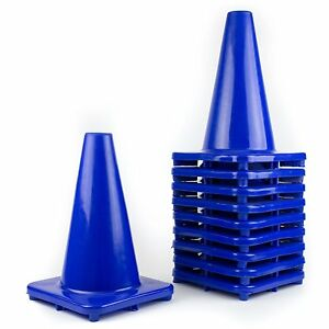 Rk Pvc Traffic Safety 12 Blue Cone Construction Safety Parking Safety Cones