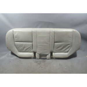 1992 1993 Bmw E34 5 Series Touring Rear Seat Bottom Bench Silver Grey Leather