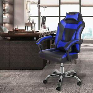 Gaming Reclining Racing Office High Back Desk Chair Computer Desk Seat