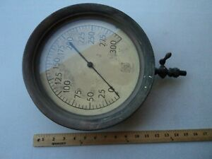 Vintage 12 Ashcroft Brass Cast Steam Gauge American Bridgeport Conn Steampunk