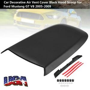 Car Air Vent Cover Hood Scoop For Ford Mustang Gt V8 2005 2009 Black Us Stock