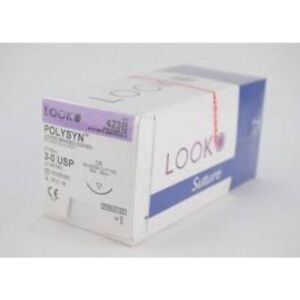 Look 423b Polysyn Pga Undyed Braided Absorbable Sutures C6 3 0 27 12 bx