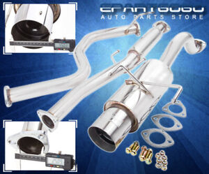For 96 00 Honda Civic Hatch Racing Stainless 3 Exhaust Muffler Catback System