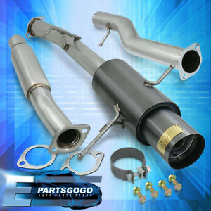 For 02 07 Impreza Wrx Sti Gunmetal 75mm Catback Exhaust Muffler System Turbo