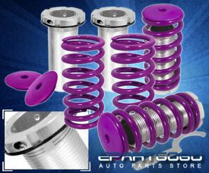 94 01 Integra Purple Height Adjustable Lowering Coilover Coil Spring Assembly