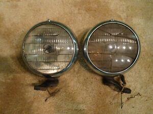 Appleton Cadillac Model 75 Fog Lamps Oem 7 Inch Pair With Mounts 32 36