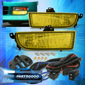 For 97 01 Honda Prelude Yellow Driving Bumper Fog Lights Lamps W Switch Harness