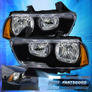 For 2011 2014 Dodge Charger Projector Headlight Lamp Amber Corner Replacement