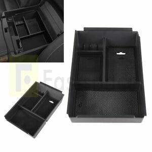 Black Storage Box Center Console Armrest Organizer Tray For 2009 14 Ford F150