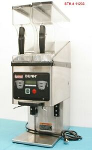 Bunn 35600 0031 Mhg Dbc Sst Coffee Grinder Dual Hopper For Use W Brew Wise Sys