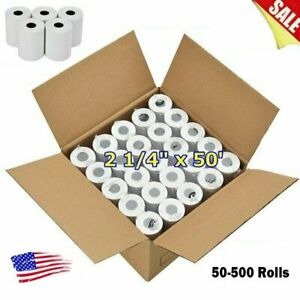 50 500 Rolls Case 2 1 4 X 50 Thermal Cash Register Credit Pos Receipt Paper Us