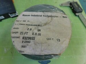 Kaman Ind Power Transmission Conveyor Belt 2 0 Wide X 25 Long X 0 045 Thick