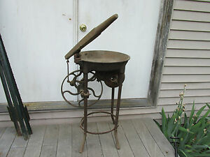 Antique Forge With Hand Blowerwith Pump Type Handle