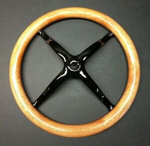 15 Mahogany Model T Steering Wheel Rim W Cast Iron Spider Natural Finish