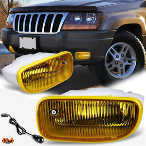 For 99 04 Jeep Grand Cherokee Amber Front Bumper Driving Fog Light Lamp Switch