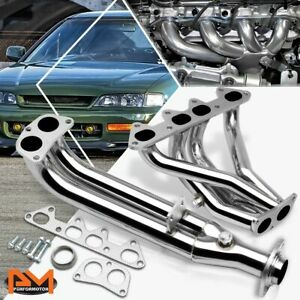 For 94 97 Honda Accord F22 I4 4cyl Cd3 Cd6 Stainless Steel 4 2 1 Exhaust Header