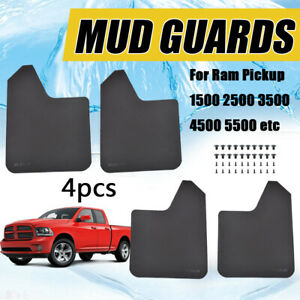 4pcs Mud Flaps Mudflaps Splash Guards Fender Flares For Dodge Ram Pickup 1500