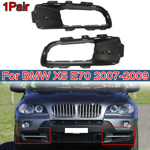 2 X For Bmw X5 E70 2007 2010 Fog Light Trims Front Bumper Lower Grille Fog Cover
