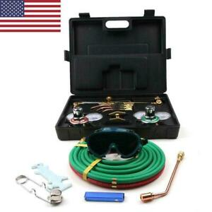 Gas Welding Cutting Kit Oxy Acetylene Oxygen Torch Brazing Fits Victor W hose Us