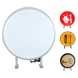 Led Light Box Sign Round Double Sided Outdoor Advertising Projecting Light