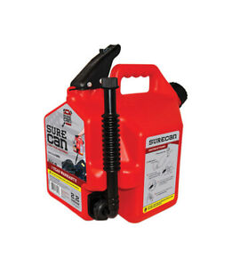 Surecan 2 gallon Portable No Spill Plastic Gas Fuel Can Container Jug Canister