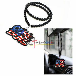 1pc Jdm Coke Boys W Us Flag Car Rearview Mirror Hanging Charm Pendant Ornament