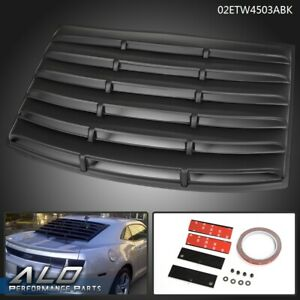 For Chevy Camaro 2010 2011 2012 2013 2014 2015 Rear Window Louver Black Cover
