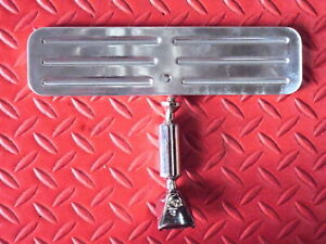 Rear View Mirror Polished Billet Aluminum New Complete Universal Application