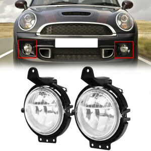 Pair For Mini R55 R56 R57 R58 Cooper 2007 2015 Front Left And Right Fog Lights