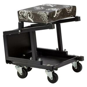 Rolling Auto Creeper Seat Step Stool In One Gas Monkey 5 Caster 300lb Capacity