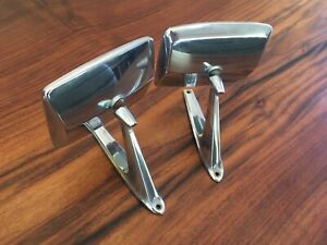 Vtg Pair Oem 1967 1972 Ford Truck 1967 79 Bronco Side Mirrors D37b 17743 Da