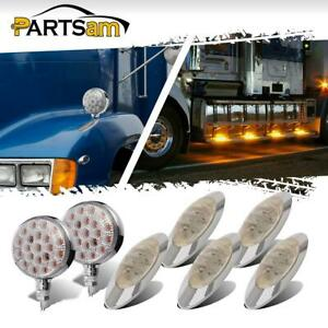5x 6 5 Oval Amber 4led Marker Light 2x 4 Double Face Stop Turn Tail Lamp 42led